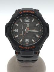 ソーラー腕時計・G-SHOCK/アナログ/BLK/ブラック