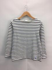 長袖Tシャツ/3/コットン/ボーダー/オーシバル/オーチバル/ホワイト
