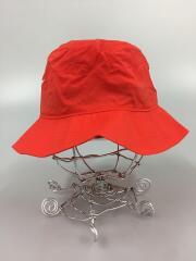 バケットハット/M/ナイロン/RED