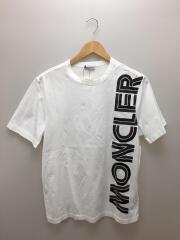 モンクレール/20AW/MAGLIA T-SHIRT/F20918C76010/Tシャツ/S/コットン/ホワイト/ロゴ