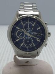 WIRED/ワイヤード/ソーラー腕時計/AGAD058/アナログ/ステンレス/シルバー