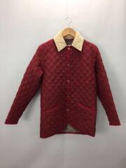 キルティングジャケット/34/ウール/RED/無地