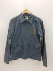 ジャケット/40/コットン/NVY/ストライプ/ACE刺繍/襟袖汚れ有