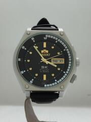 自動巻腕時計/アナログ/レザー/BLK/BLK/社外ベルト/SKクリスタル/EMAL-CO