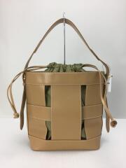 Les sacs Adam/ハンドバッグ/レザー/CML/無地/クリリン バケツ型バッグ