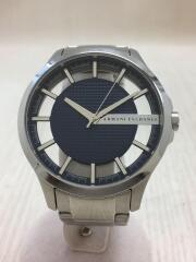 アルマーニエクスチェンジ/クォーツ腕時計/アナログ/--/ネイビー/シルバー