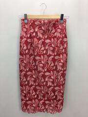 スカート/1/ポリエステル/RED