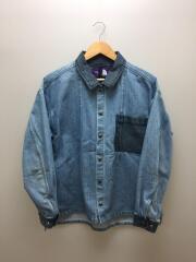 Broken Twill Denim Shirt Jacket/M/コットン/IDG/NP2907N/デニムジャケット