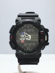 クォーツ腕時計・G-SHOCK/デジアナ/ラバー/SLV/BLK