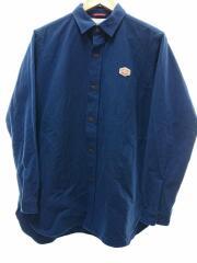コットンモールスキンワイドシャツ/40/コットン/BLU/VM202SM11071