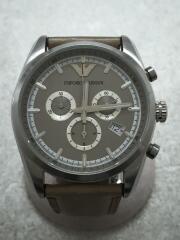 ベルト汚れあり/クォーツ腕時計/アナログ/レザー/AR-6040