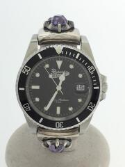 クォーツ腕時計/アナログ/ステンレス/BLK/SLV/acslw-001