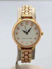 クォーツ腕時計/アナログ/--/WHT/GLD/MJ3496