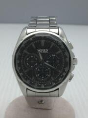 クォーツ腕時計/アナログ/ステンレス/BLK/7T12-0AT0/472530