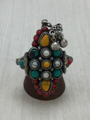 Multicolor Beaded Aged Sterling Silver/SV925/15号/ラインストーン