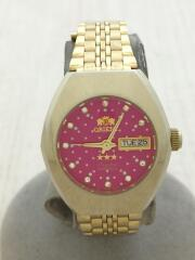 NQ20-N0/クォーツ腕時計/アナログ/ステンレス/PNK/GLD