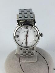 クォーツ腕時計/アナログ/ステンレス/WHT/SLV/MBM3437