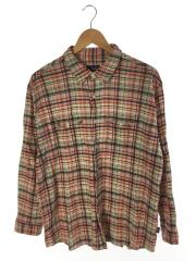 Steersman Shirt/長袖シャツ/L/コットン/RED/53830S0