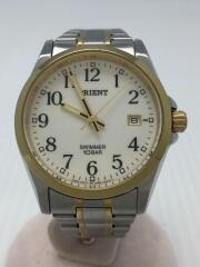 クォーツ腕時計/SWIMMER/UNB4-B0/アナログ/ステンレス/ホワイト/シルバー