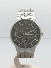 スカーゲン/クォーツ腕時計/アナログ/ステンレス/ブラック/シルバー/331XLSXM