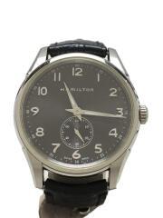 ハミルトン/ジャズマスター/シンライン/クォーツ腕時計/アナログ/グレー/H384110