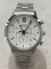 ワイアード/クォーツ腕時計/アナログ/ホワイト/VD53-KZB0