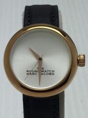 マークジェイコブス/THE ROUND WATCH/クォーツ腕時計/アナログ/レザー
