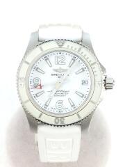 自動巻腕時計/アナログ/ラバー/ホワイト/ホワイト/A17316//ダイバーズ SUPEROCEANE スーパーオーシャン