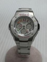 クォーツ腕時計・Baby-G/デジアナ/シルバー/MSG-302C-7BJF