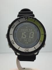 プロスペックス/ソーラー腕時計/デジタル/ラバー/ブラック/ブラック/S802-00J0
