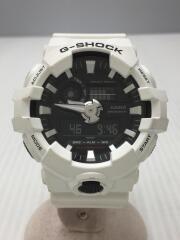 クォーツ腕時計・G-SHOCK/デジアナ/ラバー/ブラック/ホワイト/GA-700-7AJF