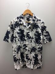 オープンカラーシャツ/半袖シャツ/M/コットン/ホワイト/花柄/3HZC48