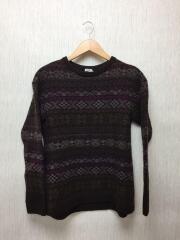 セーター(厚手)/--/ウール/マルチカラー/総柄