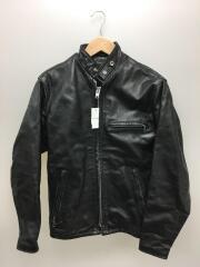 LEATHERCRAFT PROCESS/シングルライダースジャケット/34/レザー/ブラック