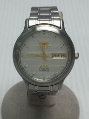 自動巻き腕時計/アナログ/ステンレス/SLV/21JEWELS