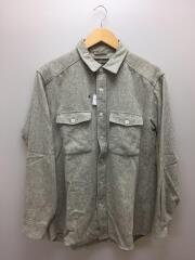 長袖シャツ/L/ウール/GRY/1114126/ウールマウンテンシャツ