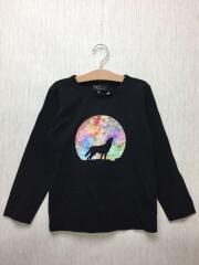 Tシャツ/130cm/コットン/ブラック/プリント