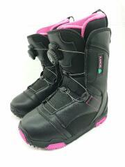 BOAブーツ/ダイヤル式 SIONYX/スノーボードブーツ/23cm/BOA/ブラック