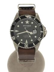 OXYGEN/クォーツ腕時計/アナログ/レザー/ブラック/ブラウン/MOB-40-NL-DB/オキシゲン
