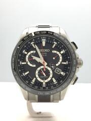 ASTRON/ソーラー腕時計/アナログ/チタン/BLK/SLV/8X53-0AB0