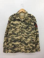 長袖シャツ/XL/コットン/マルチカラー/カモフラ