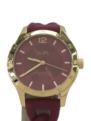 クォーツ腕時計/アナログ/ラバー/パープル/ゴールド/W1631 PDJ