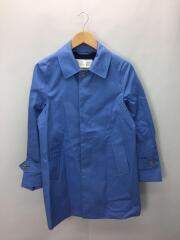 ステンカラーコート/XS/コットン/ブルー/54-08-71-08101