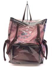 EASTPAK×RAF SIMONS/Clear SS18 Backpack/リュック/--/クリア/ピンク