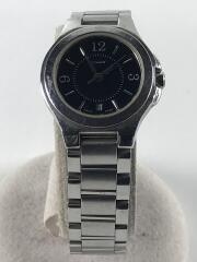 クォーツ腕時計/アナログ/ステンレス/ブラック/シルバー