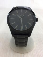 ドレスクォーツ腕時計/アナログ/ステンレス/BLK/BLK/ブラック/黒/AX2322/3針