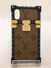 アイ・トランクライト/iPhone X & XSiPhoneケース/PVC/ブラウン/総柄