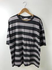 shortsleevebordert-shirt/Tシャツ/4/コットン/ブラック/ボーダー