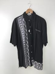 アロハシャツ/XL/コットン/BLK/総柄