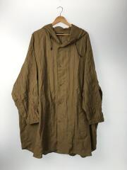 20SS リネンワッシャーフードシャツ/コート/FREE/リネン/BRW/HA020128TR